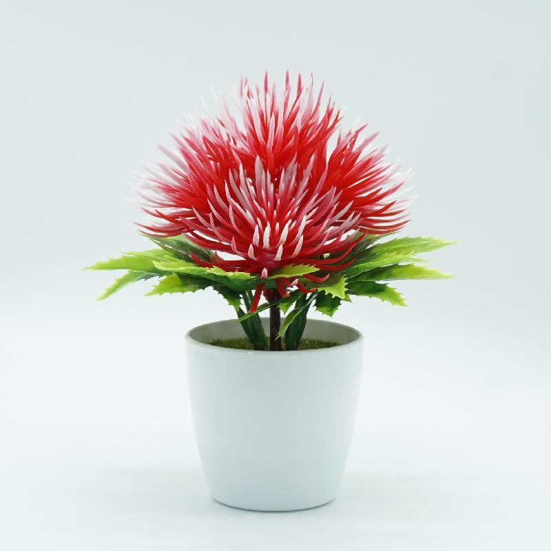 Flor Artificial Falso Flor Bonsai pequeno Sala Principal do Desktop Decoração Jardim Acessórios artificiais Plantas Plantas