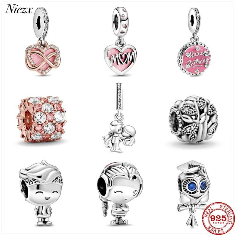 2020 new Pink & Clear Sparkle boy girl charms beads fit original charms silver 925 bracelet DIY women jewelry berloque