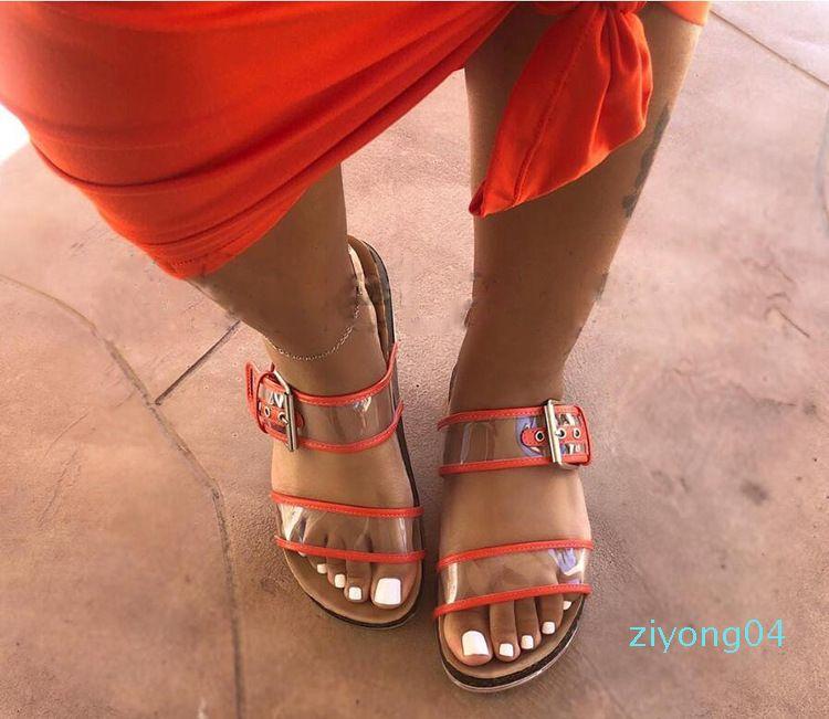 Terlik Bayanlar Sevimli Düz Toka Terlik Kadın Sıcak Z04 dışında 2019 Kadın Sandalet Yaz