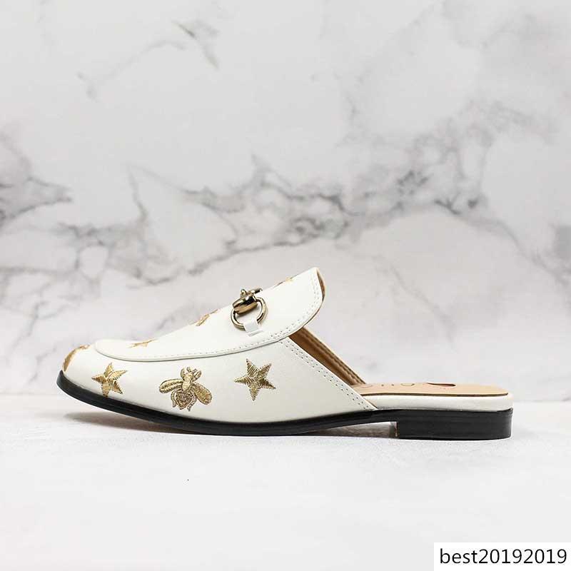 Le donne di lusso Sandas Designer scarpe Italia Moda scorrere estate Vera Pelle moda piatto Slippery Cowboy Sanda Slipper flip 36-39