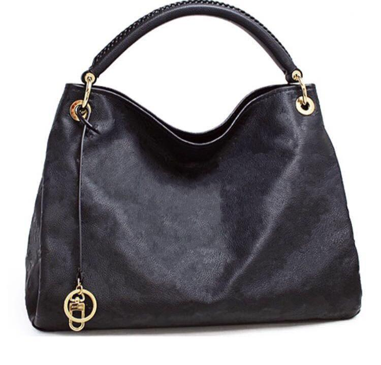 أعلى جودة خمر حقيبة النقش الزهور M40249 النساء جلد طبيعي حقيبة تسوق حمل ارتسي مصمم حقائب اليد محفظة الكتف