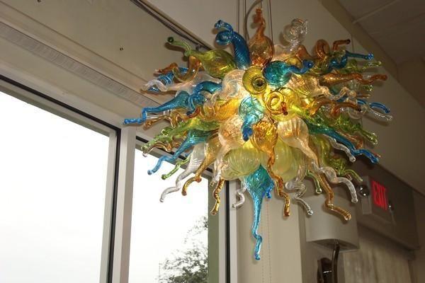100% soplado CE UL borosilicato de Murano Dale Chihuly la decoración del arte lindo de techo alto Luz