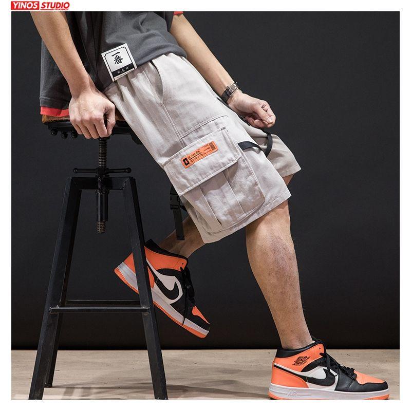 Dropshipping 2020 degli uomini di Hip Hop Summer Cargo Shorts uomini coreani di stile del Giappone pantaloni della tuta maschile Taglie 5XL Abbigliamento casual Pantaloncini Nuovo
