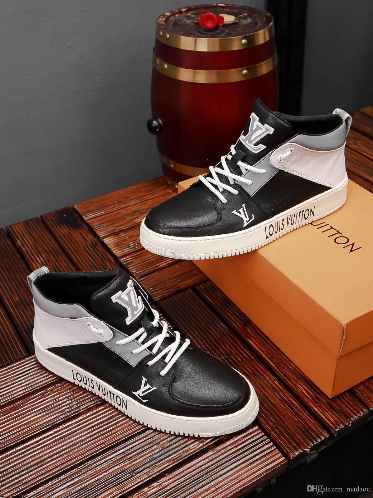 19ss Zapatos De Hombre Yeni Moda İlkbahar Sonbahar Erkekler Yüksek Top Sneakers Erkek Günlük Ayakkabılar Tenis Masculino adulto Erkekler Koşu Ayakkabıları
