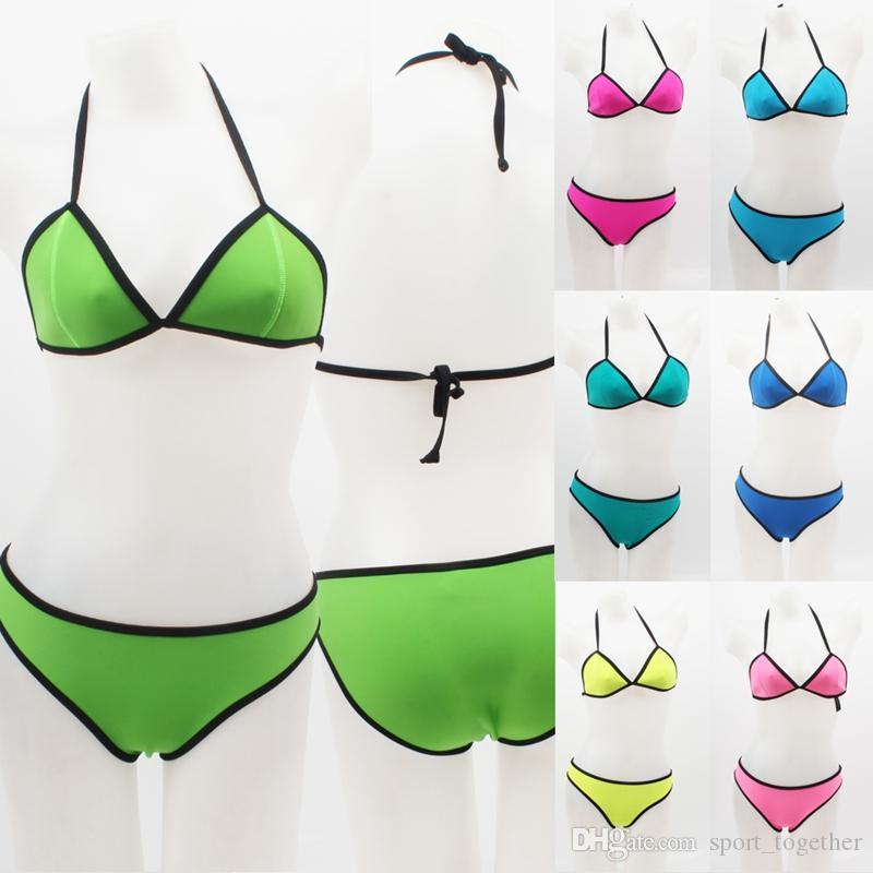 2019 Summer SWIMMART Excellent Quality Women's Very Popular Neoprene Bikini Swimsuit Set Push Up Swimwear DK003
