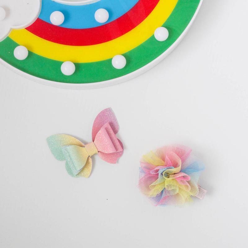 Clip lindo color del gradiente de la mariposa del pelo hechas a mano de los arcos del pelo accesorios para chicas niños Headwear niños Barrettes de la horquilla