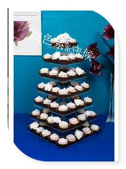 Acrylic cake Stand for Wedding Party/Free Shipping High Quality 7 tier Square Acrylic Cake Stand Cup Cake Stand
