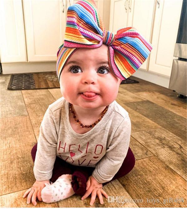 2019 europei e americani capelli banda larga fai da te Stampato capelli dei bambini bambino con grandi granella di mais fiocco fasce possibile regolare le dimensioni