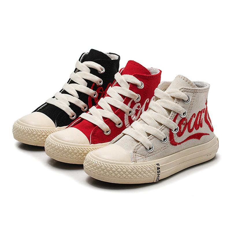 Kinderschuhe Mädchen-Kind-Turnschuh-Mode 2019 Frühlings-Jungen Schuhe High Top Sneakers Mädchen Knöchel Stiefel Freizeitschuhe S200107