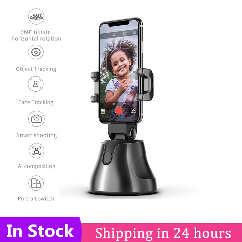 Smart 360 Selfie Shooting Gimbal Face Object Tracking Selfie Stick Apai Genie Smart Phone Holder For Photo Vedio Vlog Live Show