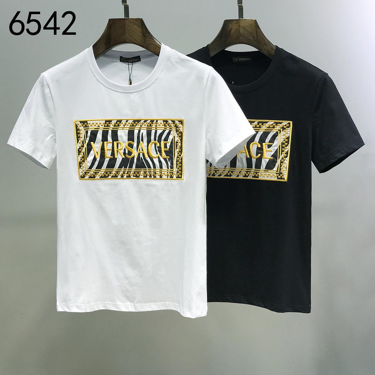 Nouvelle arrivée printemps et hommes d'impression été T-shirt décontracté Hommes Hauts pour hommes chemise T-shirt 191202-59128 * 2826