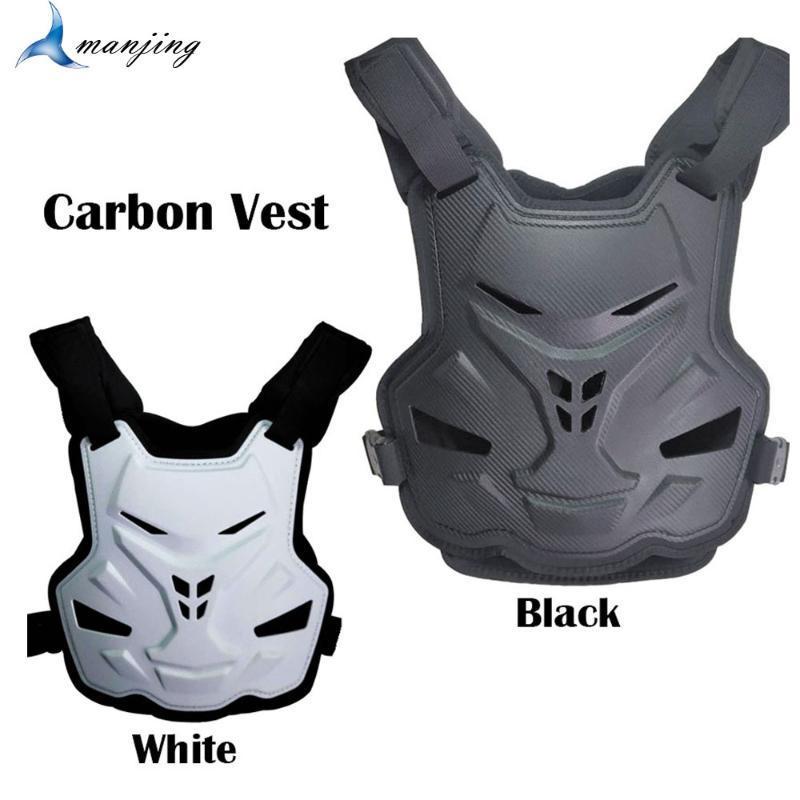 Protector resistente nueva fibra de carbono motocrós Armour chaqueta del chaleco dispositivo de protección del engranaje del camino de ciclo de patinaje gota