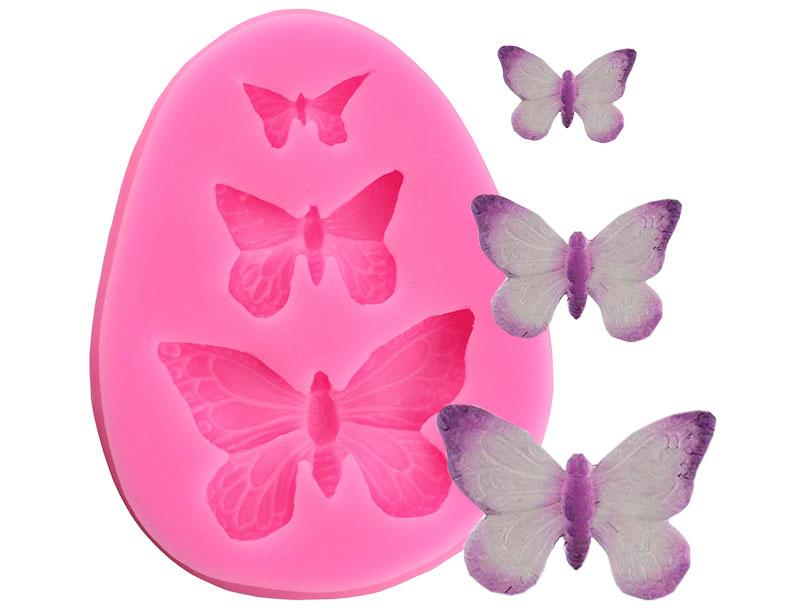 2020 3D Butterfly Silicone Mold Polymer Clay Candy Molds Cupcake Topper DIY Fondant Cake Decorating Tools Chocolate Gumpaste Mould