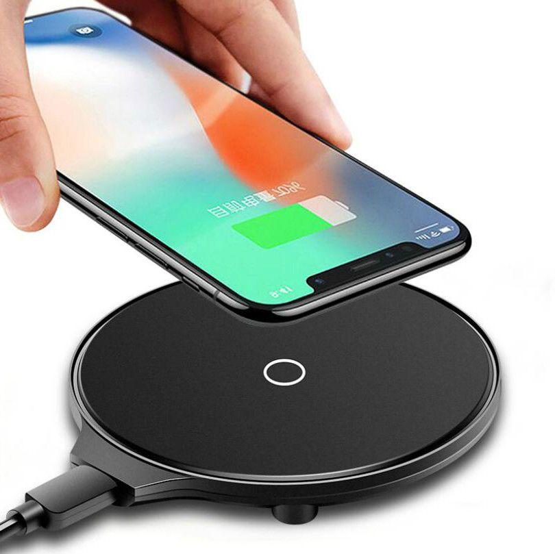 5W 10W QI Mini carga rápida ultra-delgado teléfono móvil cargador transmisor inalámbrico para Iphone Samsung Huawei OPPO VIVO Google LG Nokia Nueva M9