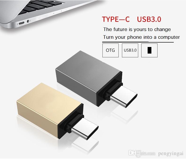 Adaptador OTG Função de carregamento de transmissão de dados de alta velocidadeTipo-c para USB3.0 compatibilidade de altura bidirecional TYPE-C otg usb3.0 driver flash