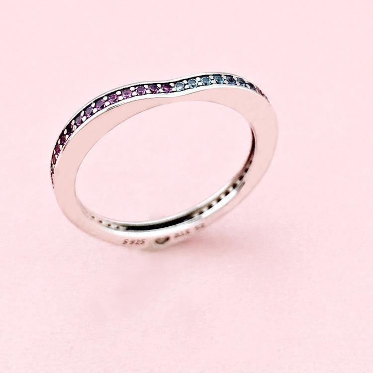 Оптово коробка Алмазное сердце RING Подарочный набор Оригинал для Pandora стерлингового серебра 925 Обручальные кольца для женщин
