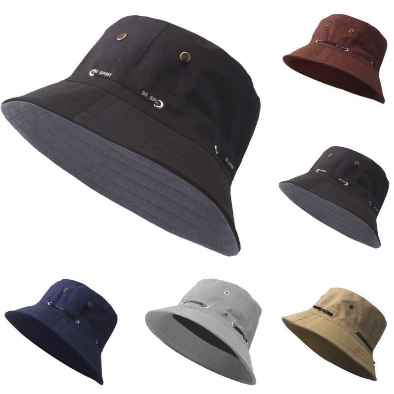 cappello della benna delle donne degli uomini di estate dei cappelli di pesca Cap Cap Moda esterna Cappello per il sole viaggio estivo casual Pescatori #