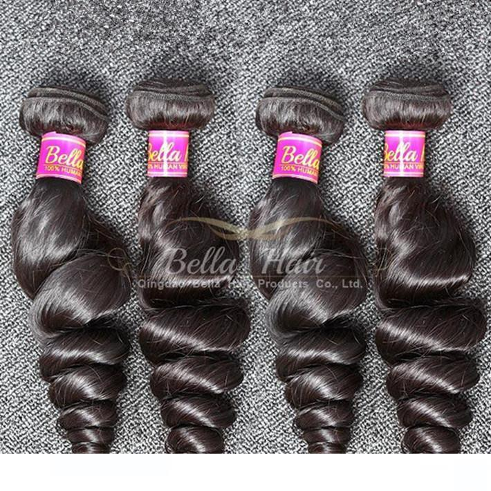 H Best Selling 100% Hair Extension 10 -24 Inch 4pcs Natural Cabelo Humano Lot brasileira Preto ondulado solto Aceno frete grátis