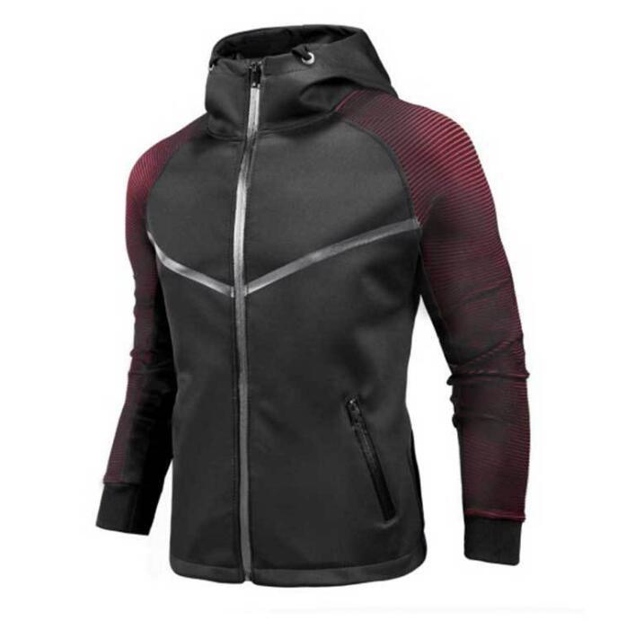 Новых люди способа осени весны случайная мужская случайный кардиган молодежная куртка личность градиент пальто TOPS Верхней одежды