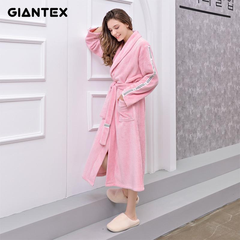 GIANTEX Kadınlar Banyo Banyo Havlu yetişkinler için Banyo Robe Bornoz Pijama Vücut Spa Banyo Elbise peçete de bain toalhas de banho T200529