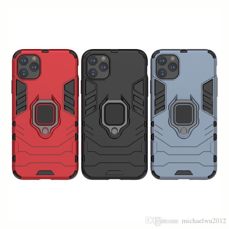 Parmak Yüzük Standı Kılıf iPhone 8 X XR için iphone 11 Pro Max Manyetik Araç Tutucu Kickstand Arka Kapak için Telefon Kılıfları