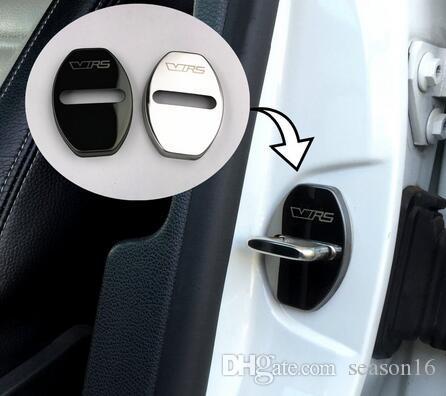 قضية غطاء قفل الباب لسكودا سيتيجو اوكتافيا السريعة اوكتافيا VRS A7 فابيا مذهلة سيارة التصميم الفولاذ المقاوم للصدأ سيارة يغطي تصفيف السيارة