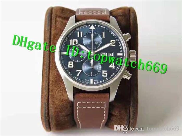 Роскошные часы ZF Top 3777 Часы 7750 Автоматическое движение хронографа Сапфировое стекло 316L корпус из нержавеющей стали ремешок из телячьей кожи Мужские часы