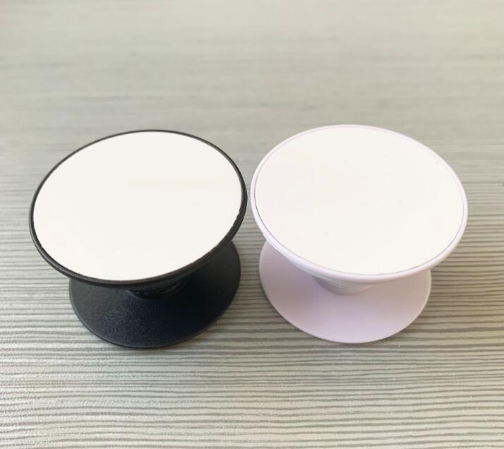 20pcs Sublimation Kreis Handy-Halter mit Groove Blank Aluminium Sublimation Insert für Custom Customized Grip Telefon-Standplatz Berg H