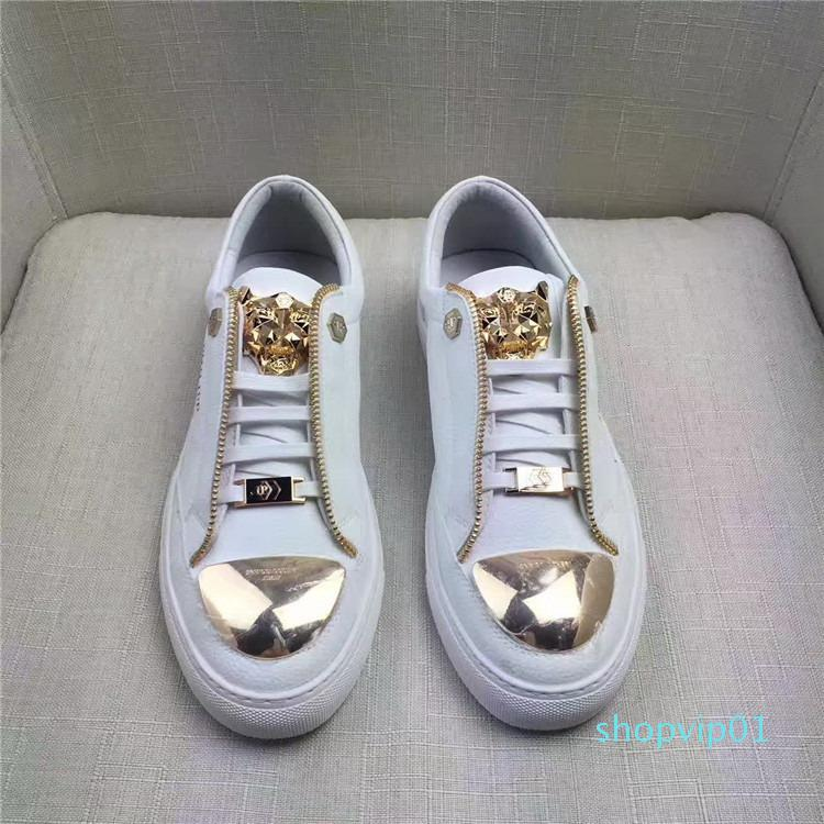 QUALIDADE SUPERIOR MEN LISA sapatos de alta qualidade material de couro de calçados masculinos casuais SOLE EU38-44 TAMANHO FRETE GRÁTIS