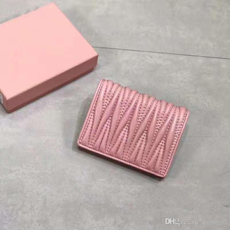 Rosa Sugao carpeta del diseñador de lujo carpetas de las mujeres bolsos de lujo del diseñador nuevo estilo monederos de cuero genuino de carteras de alta calidad