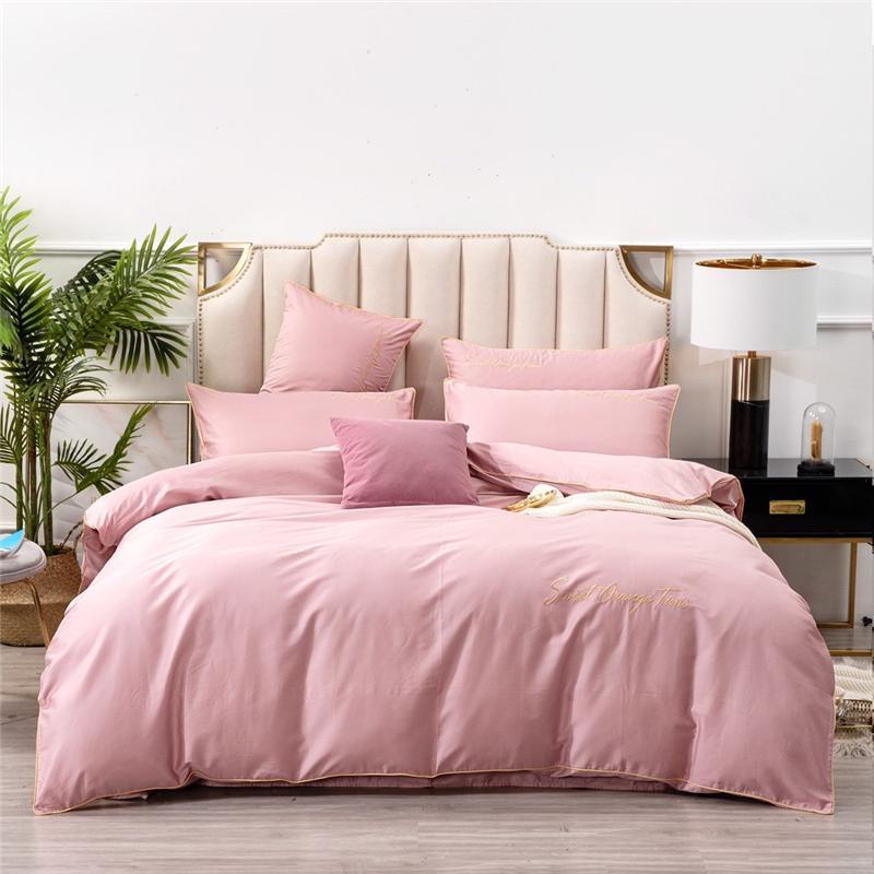 Blancstar Sistemas del lecho 100% de algodón de invierno de cuatro piezas Ropa de cama de la puntada del lecho del consolador Establece Comfort Q046-3