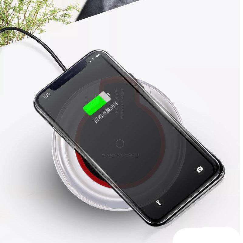 탑 QI 무선 충전기 K9 판타지 유니버설 크리스탈 충전기 전화 8 Plus XR X XS 11 Pro Max Samsung S10 S20 Plus