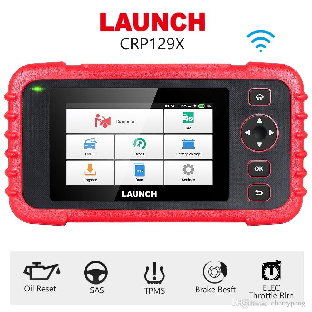 Launch X431 CRP129X Auto Code Reader Scanner Supporting Engine, Transmission, ABS and SRS System Diagnoses and 5 Special Reset Tool