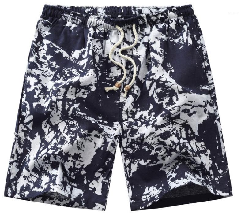 Mi taille imprimé floral Hommes d'été Vêtements Designer Plage court pantalon ample taille élastique Homme Pantalon Gais Fashion Casual