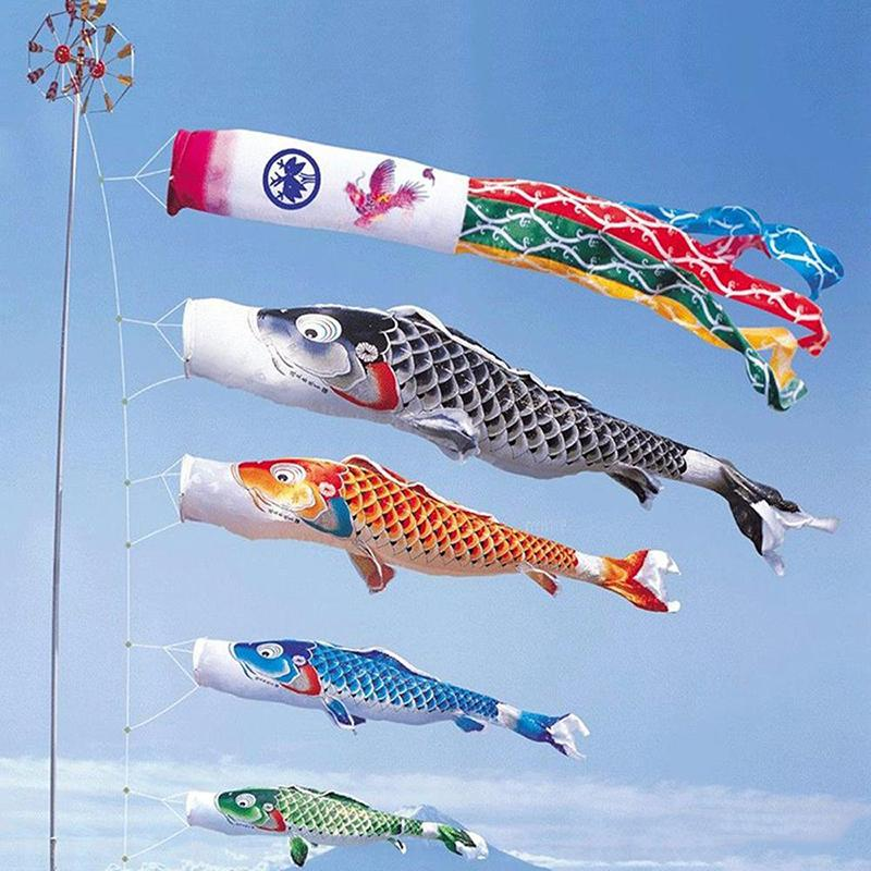 الكارب كم الريح نمط اليابانية الكارب راية 40CM 70CM 100CM 150CM الاختياري الرئيسية الطرف الكارب أعلام زينة