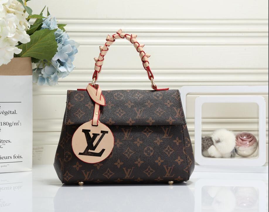шт / набор Новый стиль люкс Designe сумки на ремне Женщины цепи Crossbody мешок реального кожаные сумки кошелек Женский Посланника сумка
