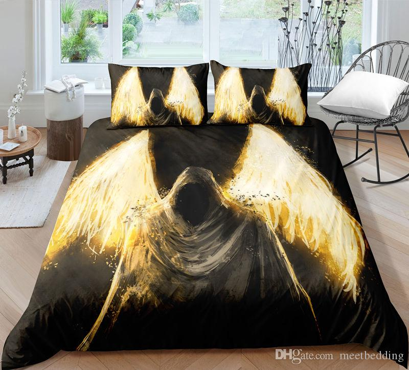 3d Skull Bedding Set Print Duvet Cover Set With Pillowcase 2 / 3 pcs us Twin Full Queen King size