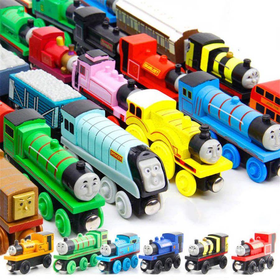 74 أنماط القطارات أصدقاء خشبية القطارات الصغيرة الكرتون لعب القطارات خشبية لعب سيارة إعطاء طفلك أفضل هدية dhl شحن مجاني