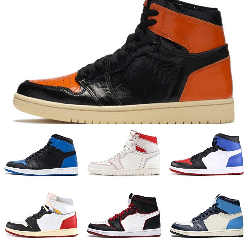 Top Og Unc 1 1S Jumpman Chaussures de basket Spiderman Obsidian sans Peur Revente Turbo Vert Backboard 3.0 Sport espadrille # 576