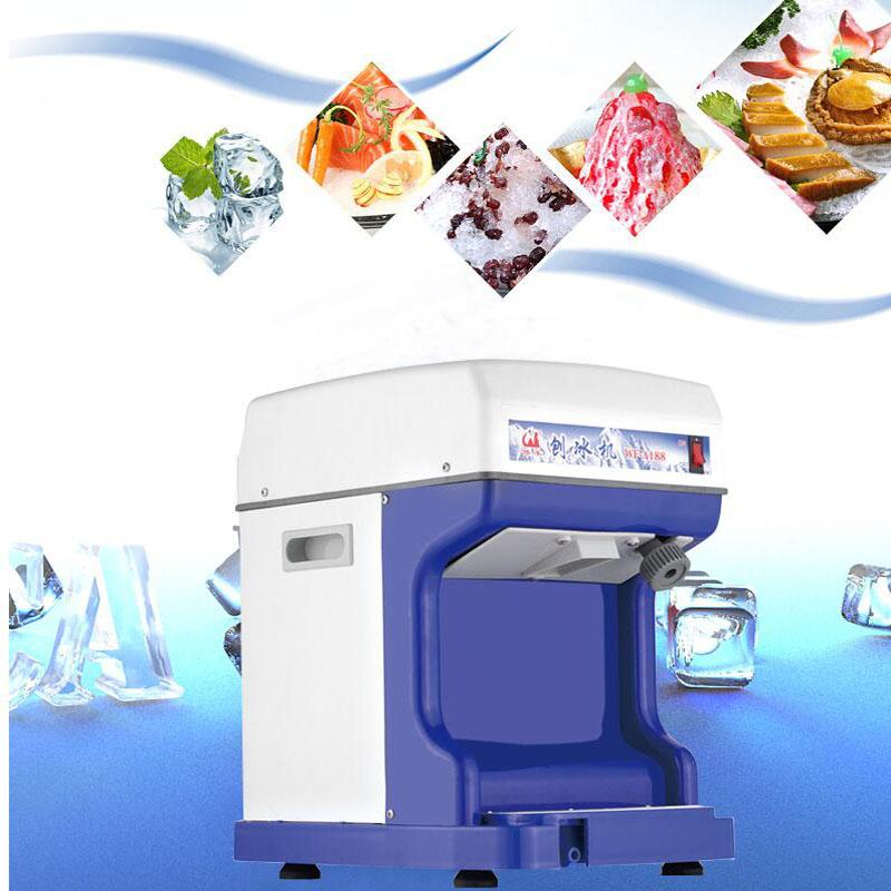 220V elektrik traş Buz makinesi Ticari Çay dükkanı kar koni Tıraşlı Buz makinesi Tam otomatik kar tanesi Buz makinesi