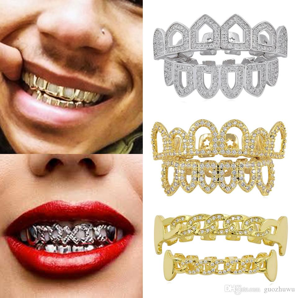 Gold teeth pierced lip ring grill grillz mouth thug gangster