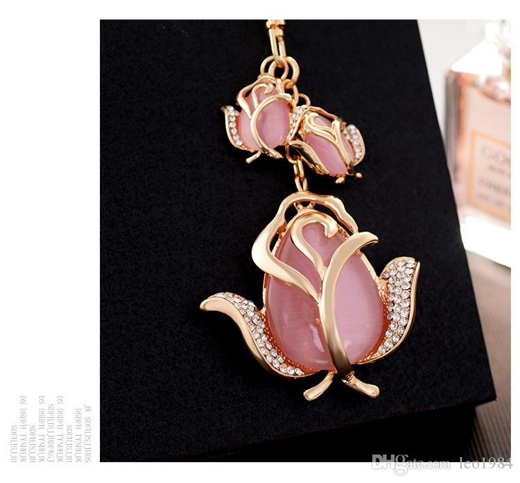 New Fashion Tulip Key Chain Chain Pour Cross-Border Boutique Girls Backpack Décoration