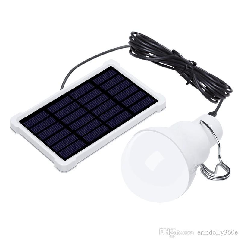 Painel Solar Portátil Lâmpada Led de alimentação de emergência acampamento ao ar livre movimentação de luz