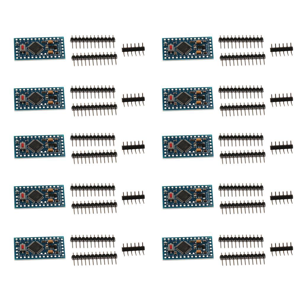 10 Pcs Pro Mini Atmega328 3.3V 8M Board Header Pin for Arduino Compatible