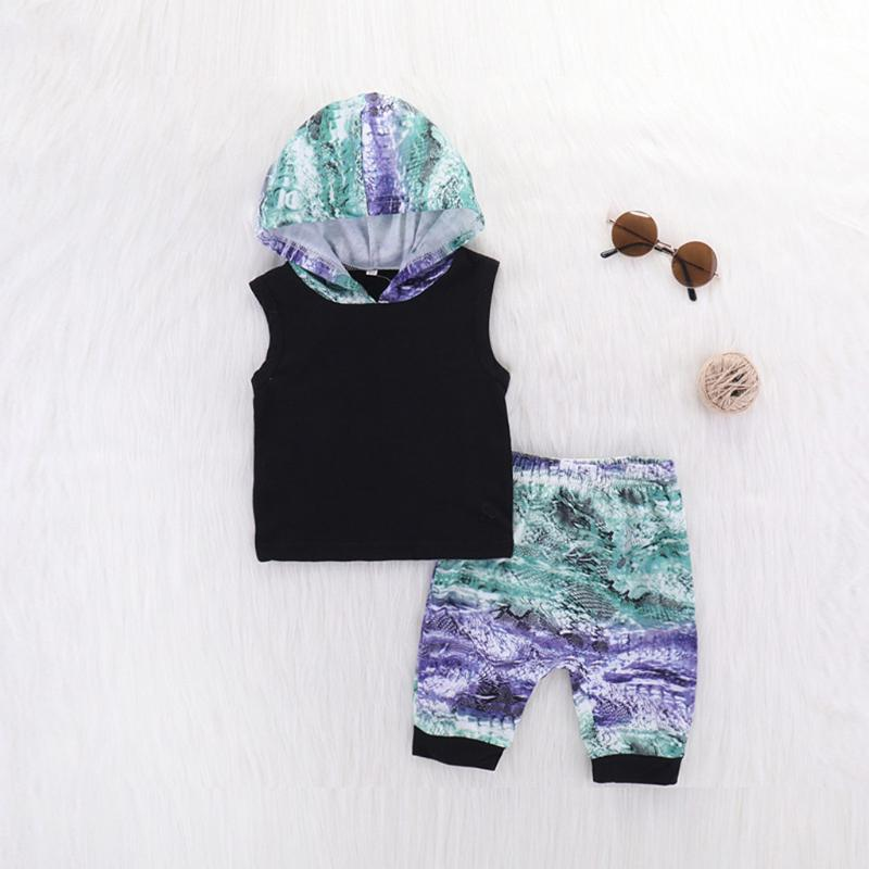 Erkek Kolsuz Kamuflaj Hat Tek Parça Kamuflaj Baskılı Pantolon İki Adet Set Giyim Seti Soğuk Bebek Güzel Materia 2020 Yeni