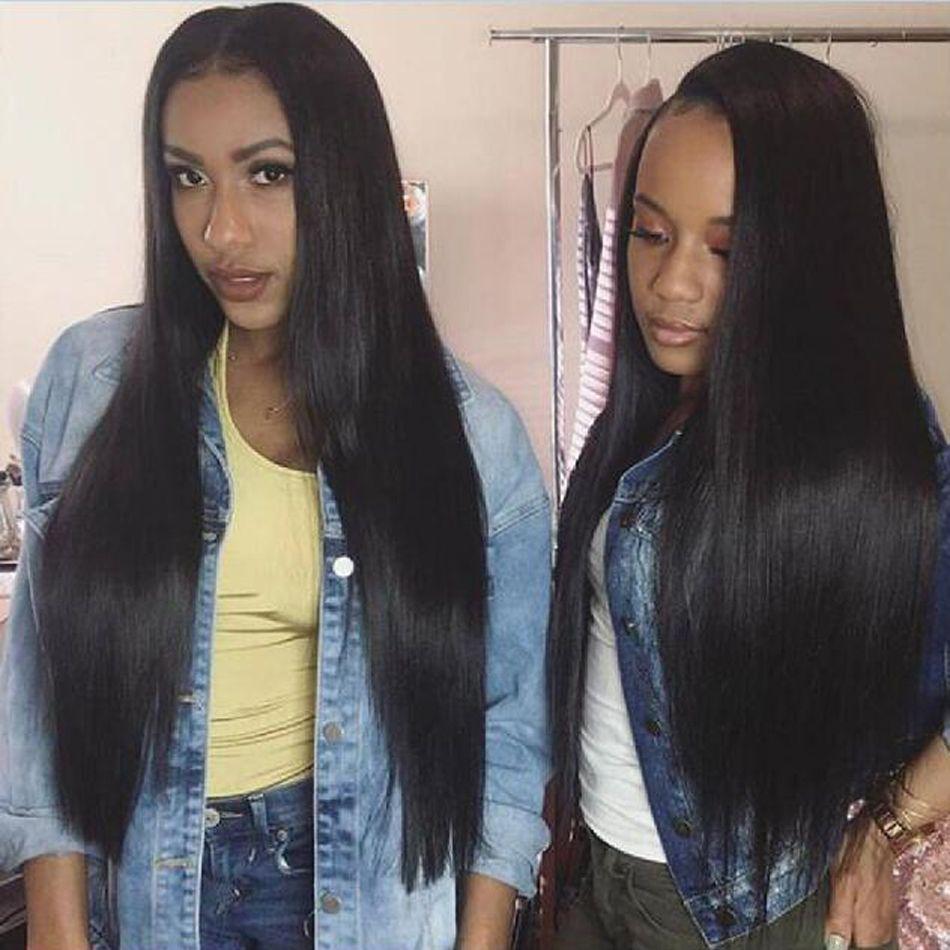 Mode-Haar-Spitze Frontal Verschluss mit Bundles gerade Menschenhaar-Bundles mit Spitze Schließung Non-Remy Haare