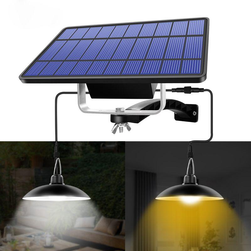 태양 펜던트 조명 야외 실내 행잉 태양 전원 창고는 반 농장 정원 마당 안뜰을위한 방수 장식 램프를 점등