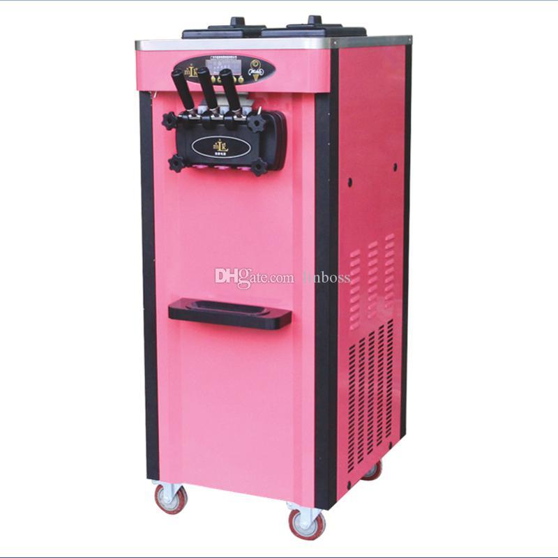 venta directa vendedora caliente del certificado CE vertical de hielo máquina de crema de tres sabores de helado de negocios fábrica de máquinas