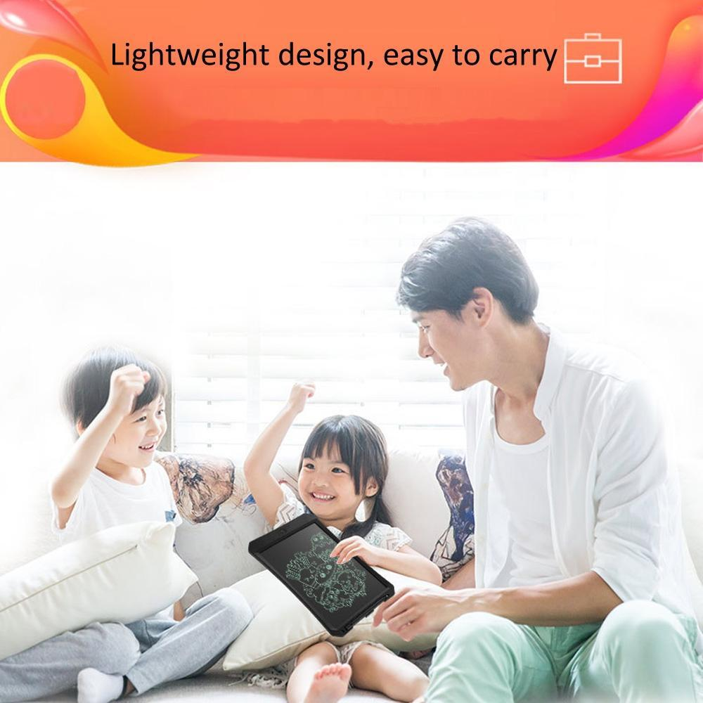 Black Consumer Electronics 11 inch LCD Monochrome Screen Rough Handwriting Writing Tablet High Brightness Handwriting Drawing Sketching Graffiti Scribble Doodle Board for Home Office Writing Drawing