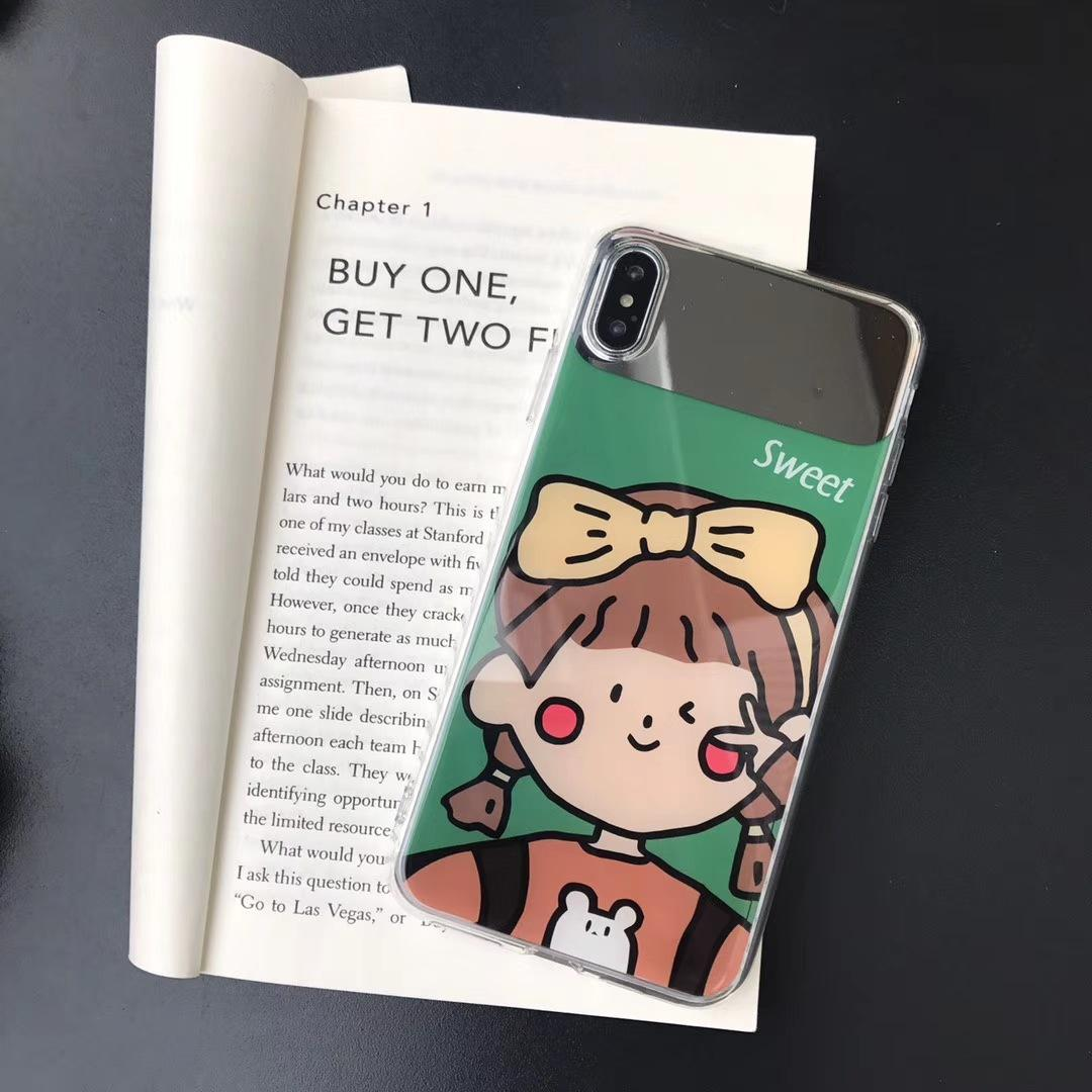 De diseño de iPhone con maquillaje Espejo de lujo de la cubierta protectora marca de moda Cover Girls iPhone 11 XS Max XR 7plus 8P 6 7 8 6S 20225013C